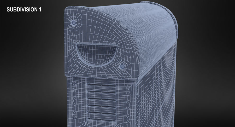 Generic Electric Convector Heater royalty-free 3d model - Preview no. 14