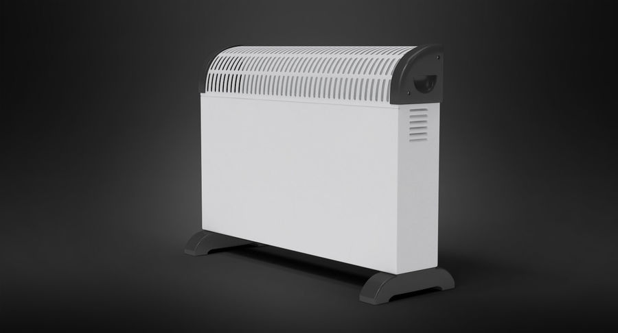 Generic Electric Convector Heater royalty-free 3d model - Preview no. 4