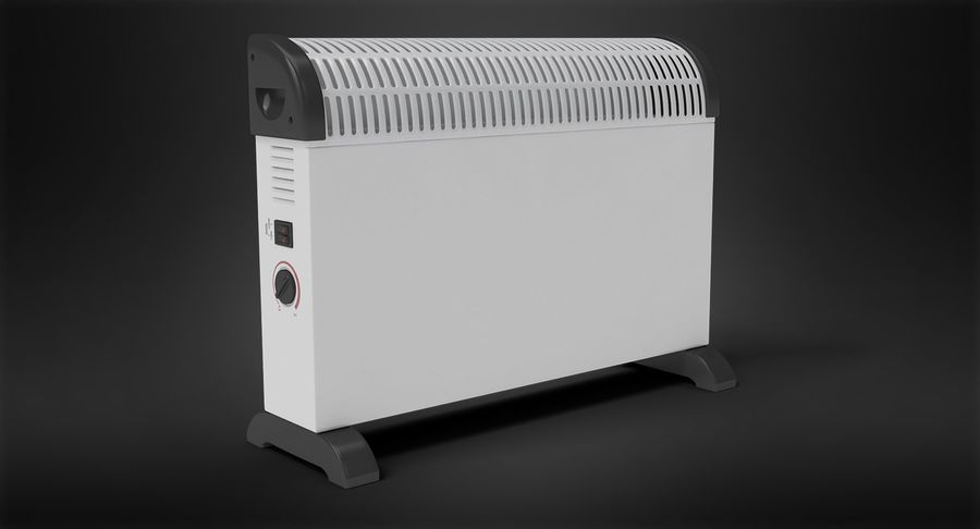 Generic Electric Convector Heater royalty-free 3d model - Preview no. 3