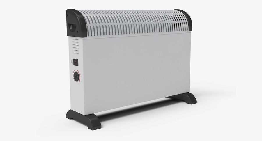 Generic Electric Convector Heater royalty-free 3d model - Preview no. 2