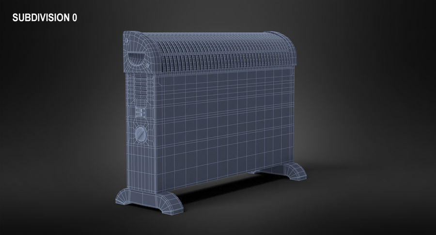 Generic Electric Convector Heater royalty-free 3d model - Preview no. 9
