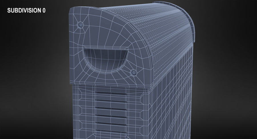 Generic Electric Convector Heater royalty-free 3d model - Preview no. 13
