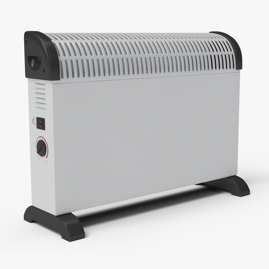 Generic Electric Convector Heater royalty-free 3d model - Preview no. 1