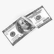 Dollar Bill Torn Up 3d model