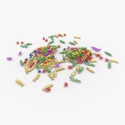 Pilha de doces misturados 3d model