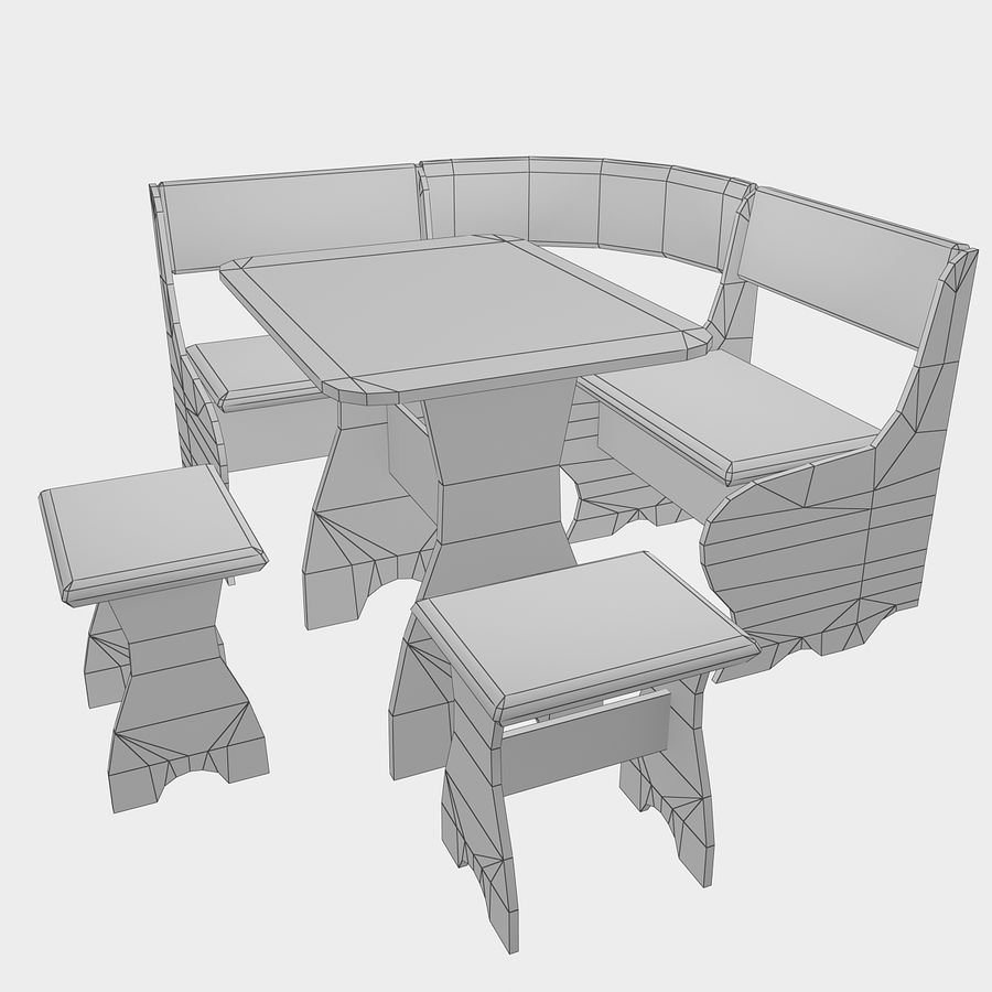 Muebles de cocina royalty-free modelo 3d - Preview no. 16