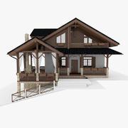 Casa de Chalé 3d model