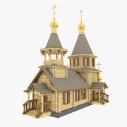 Russische houten kerk 3d model