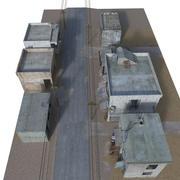 Slum Arab House Interior and Exterior 3d model