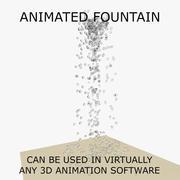 Animated Fountain 3 3d model