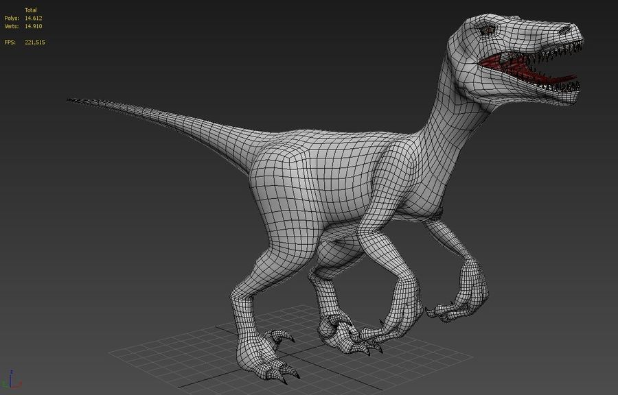 Velociraptor royalty-free 3d model - Preview no. 1