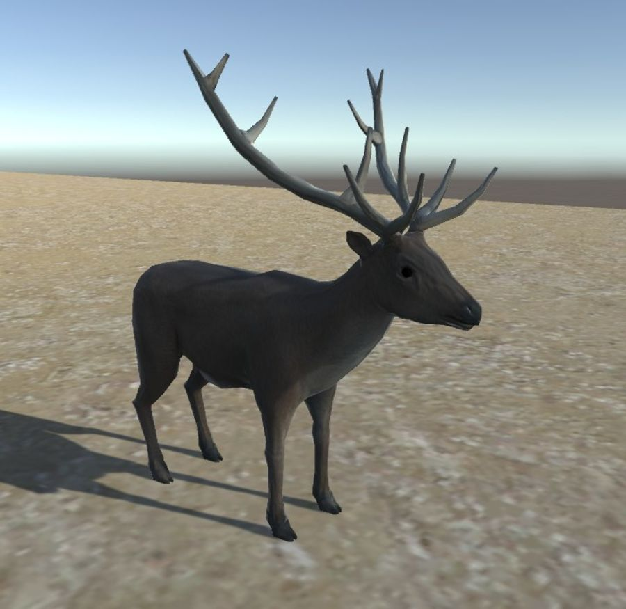 Hirsch royalty-free 3d model - Preview no. 5
