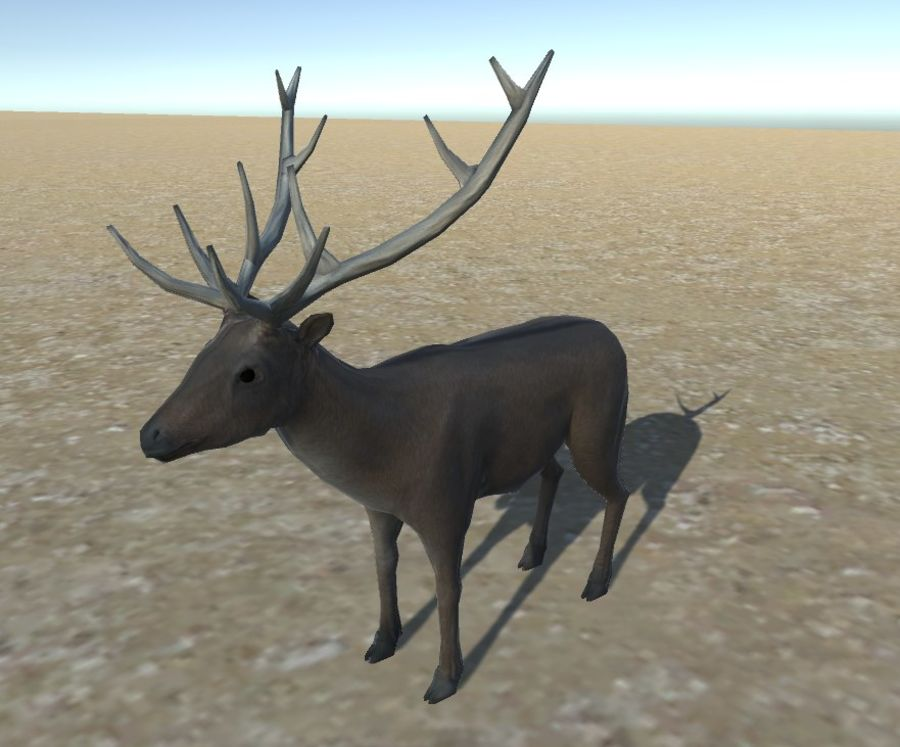 Hirsch royalty-free 3d model - Preview no. 2