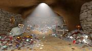 Пещера сокровищ 3d model