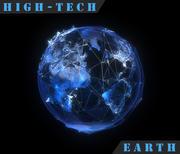 Tierra de alta tecnología modelo 3d