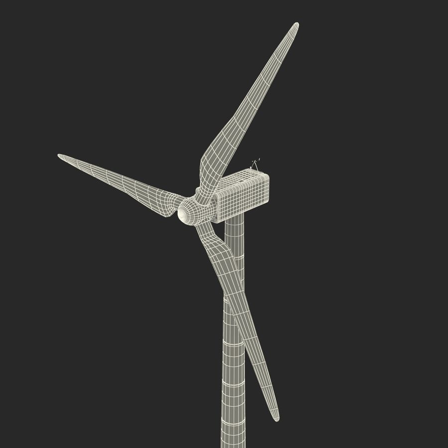 Generic Wind Turbine royalty-free 3d model - Preview no. 31