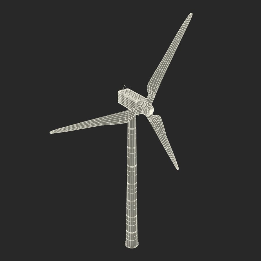 Generic Wind Turbine royalty-free 3d model - Preview no. 29