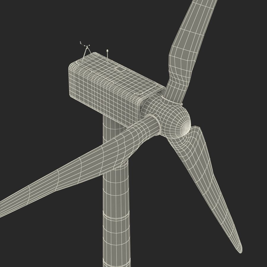 Generic Wind Turbine royalty-free 3d model - Preview no. 33