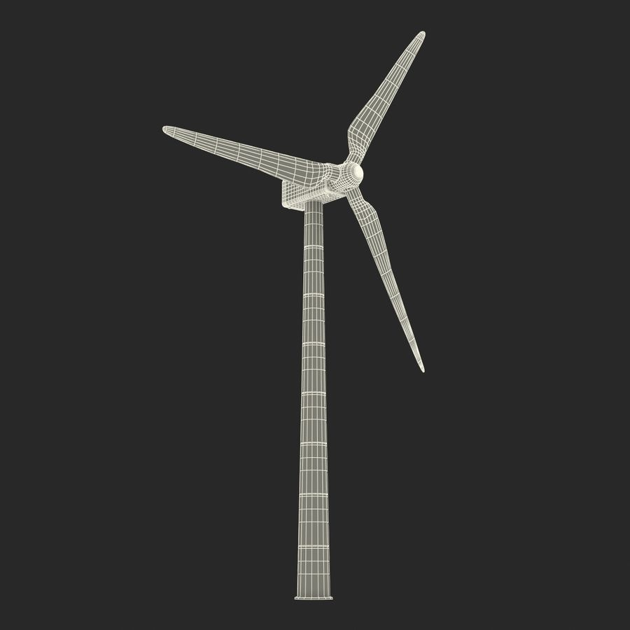 Generic Wind Turbine royalty-free 3d model - Preview no. 26