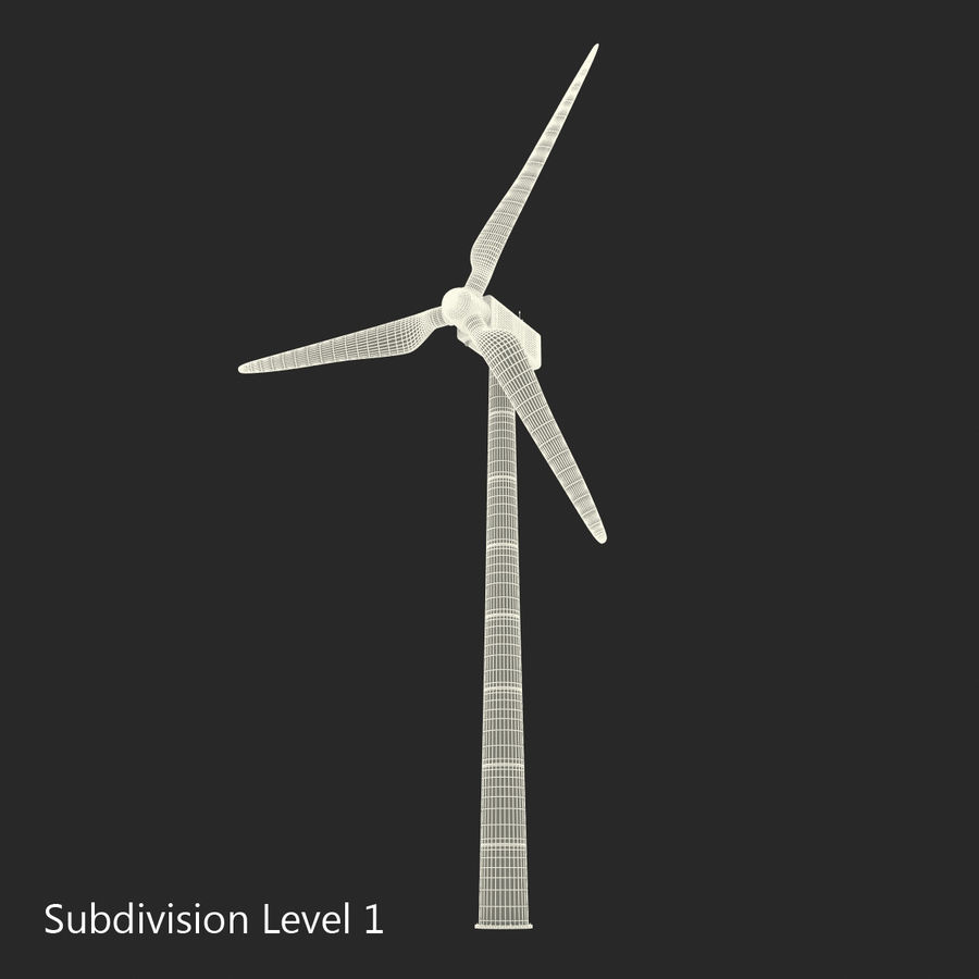 Generic Wind Turbine royalty-free 3d model - Preview no. 18