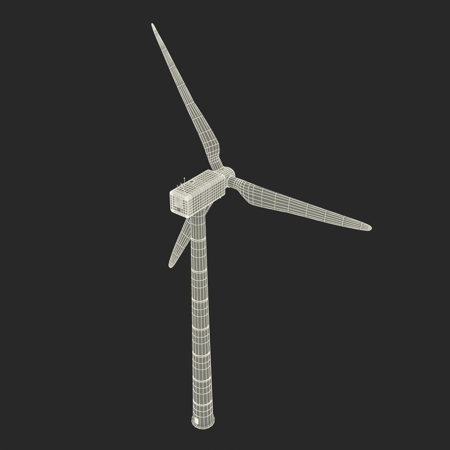 Generic Wind Turbine royalty-free 3d model - Preview no. 30