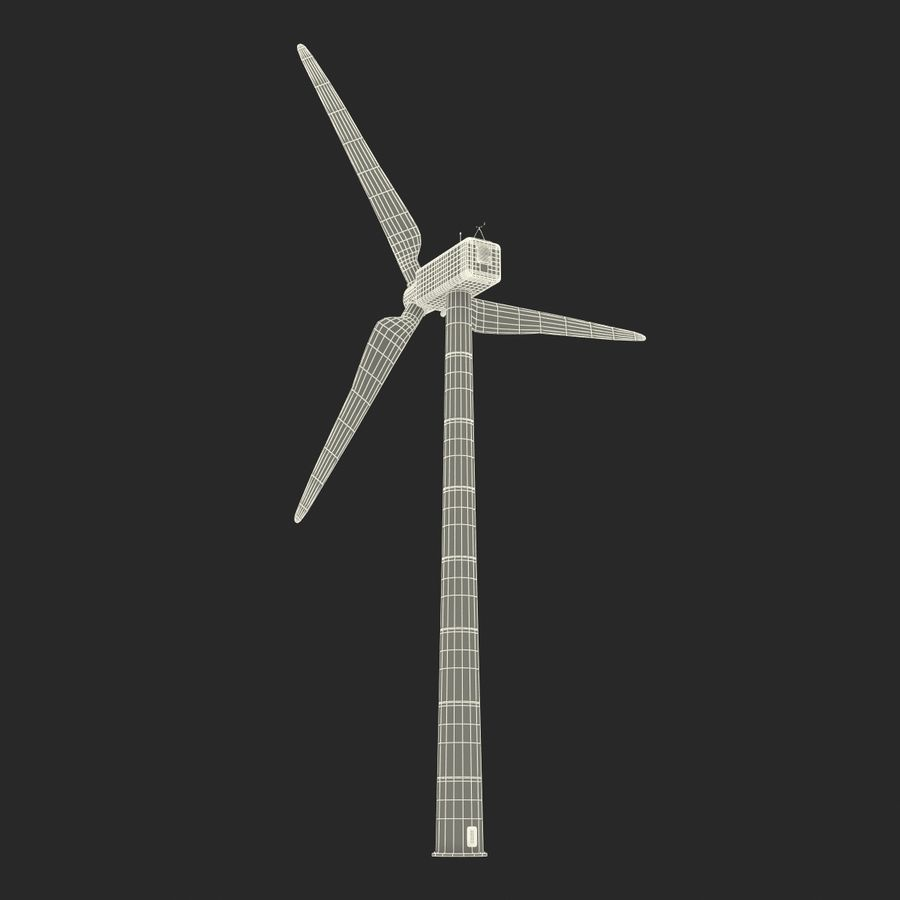 Generic Wind Turbine royalty-free 3d model - Preview no. 28