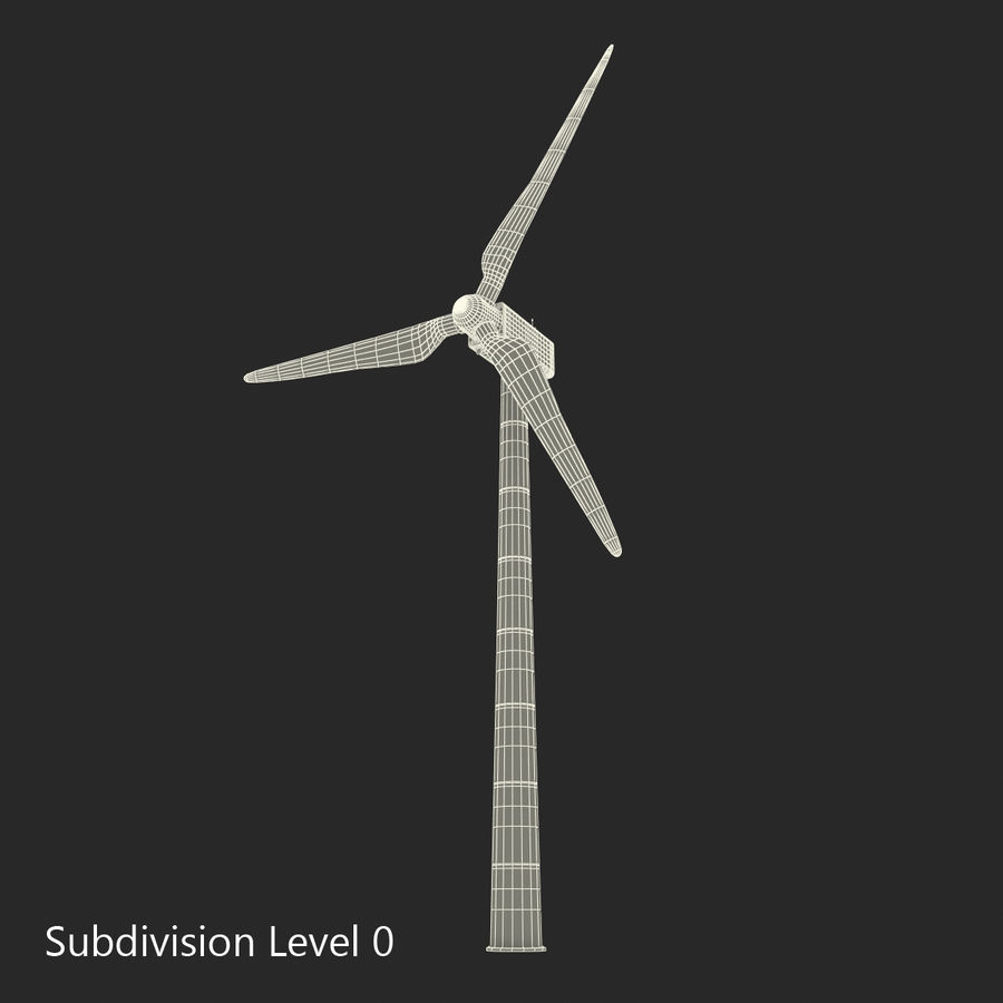 Generic Wind Turbine royalty-free 3d model - Preview no. 17