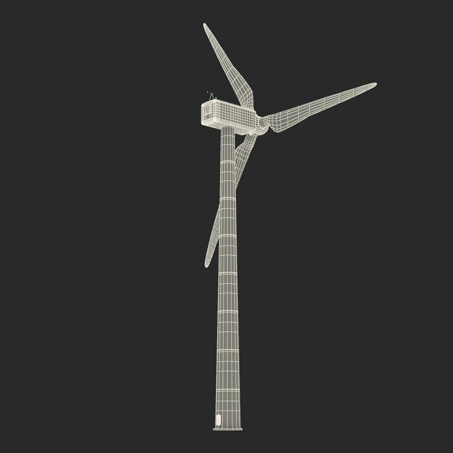 Generic Wind Turbine royalty-free 3d model - Preview no. 27
