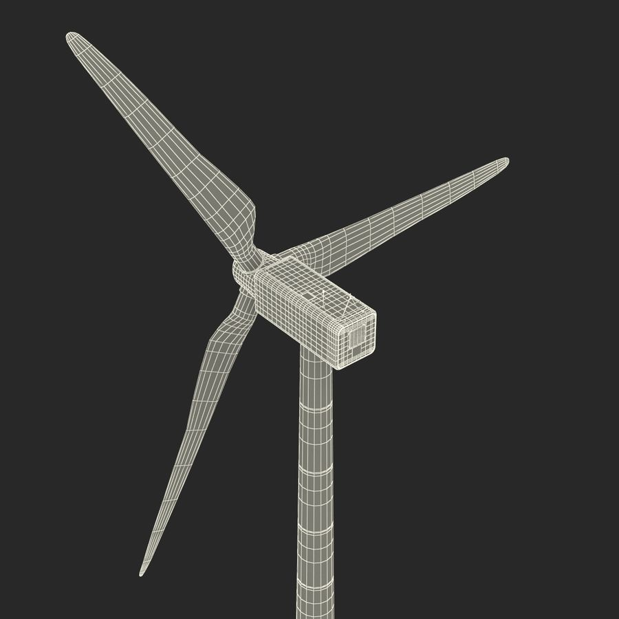 Generic Wind Turbine royalty-free 3d model - Preview no. 32