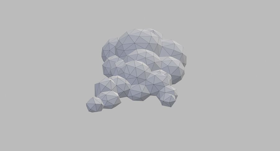 Nuages Low Poly royalty-free 3d model - Preview no. 22