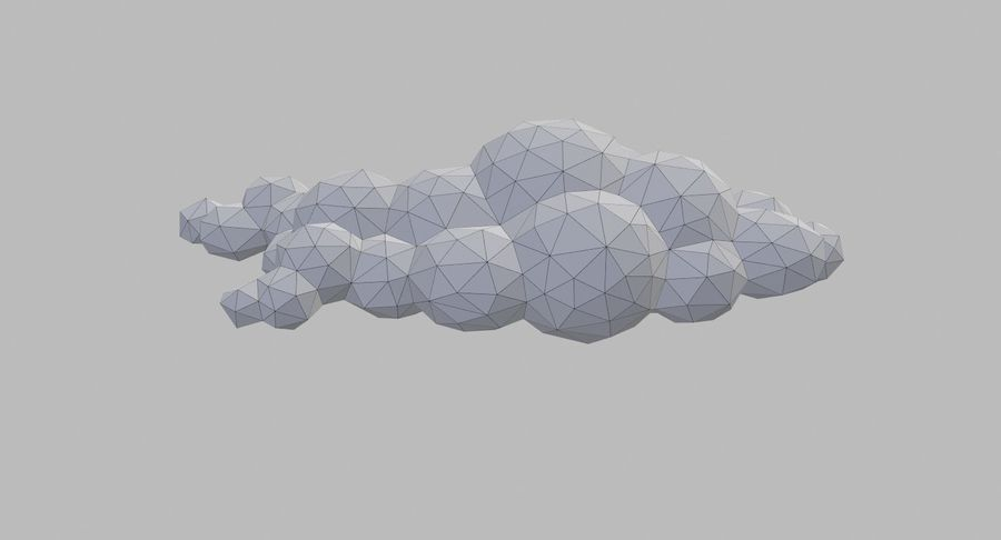Nuages Low Poly royalty-free 3d model - Preview no. 25