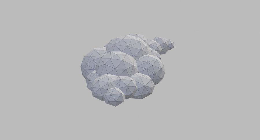 Nuages Low Poly royalty-free 3d model - Preview no. 24