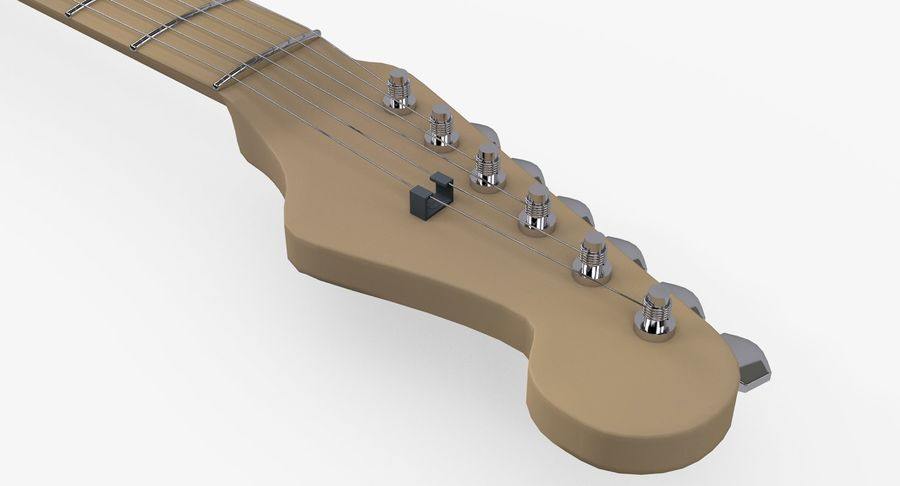 Gitarre - Fender Stratocaster royalty-free 3d model - Preview no. 9