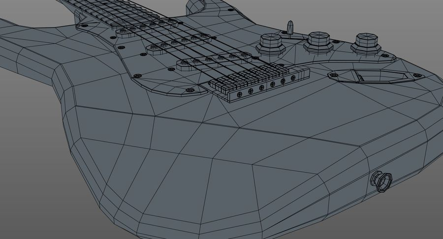 Gitarre - Fender Stratocaster royalty-free 3d model - Preview no. 14
