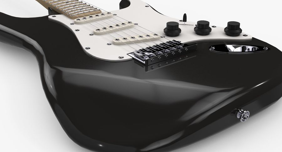 Gitarre - Fender Stratocaster royalty-free 3d model - Preview no. 7