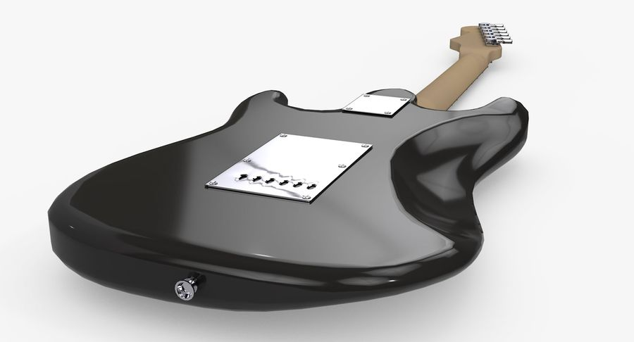 Gitarre - Fender Stratocaster royalty-free 3d model - Preview no. 11
