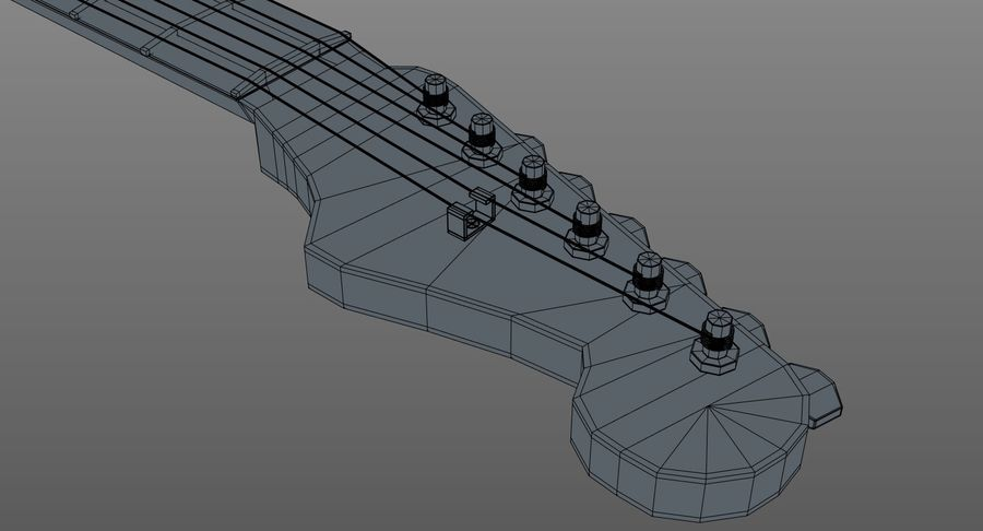 Gitarre - Fender Stratocaster royalty-free 3d model - Preview no. 16