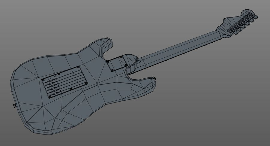 Gitarre - Fender Stratocaster royalty-free 3d model - Preview no. 17
