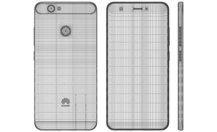 Huawei Nova Prestige Gold royalty-free 3d model - Preview no. 24