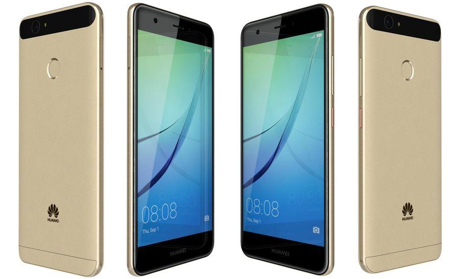 Huawei Nova Prestige Gold royalty-free 3d model - Preview no. 6