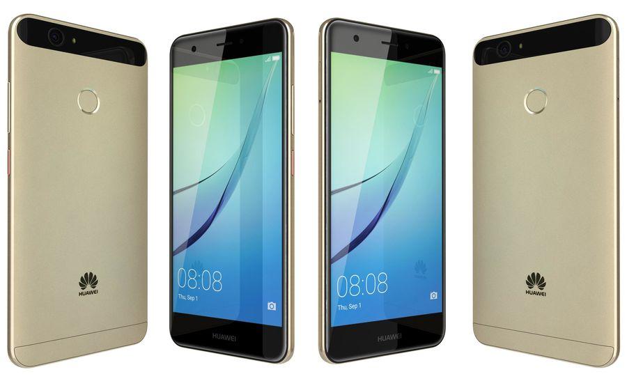 Huawei Nova Prestige Gold royalty-free 3d model - Preview no. 3