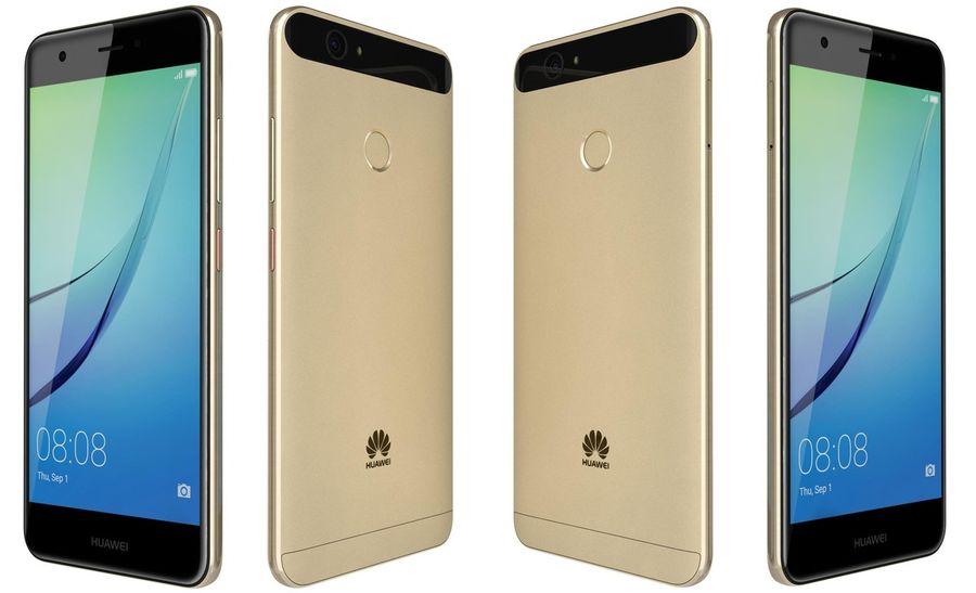Huawei Nova Prestige Gold royalty-free 3d model - Preview no. 8