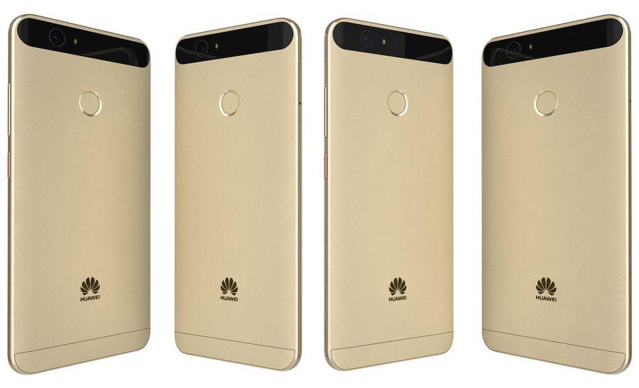 Huawei Nova Prestige Gold royalty-free 3d model - Preview no. 4