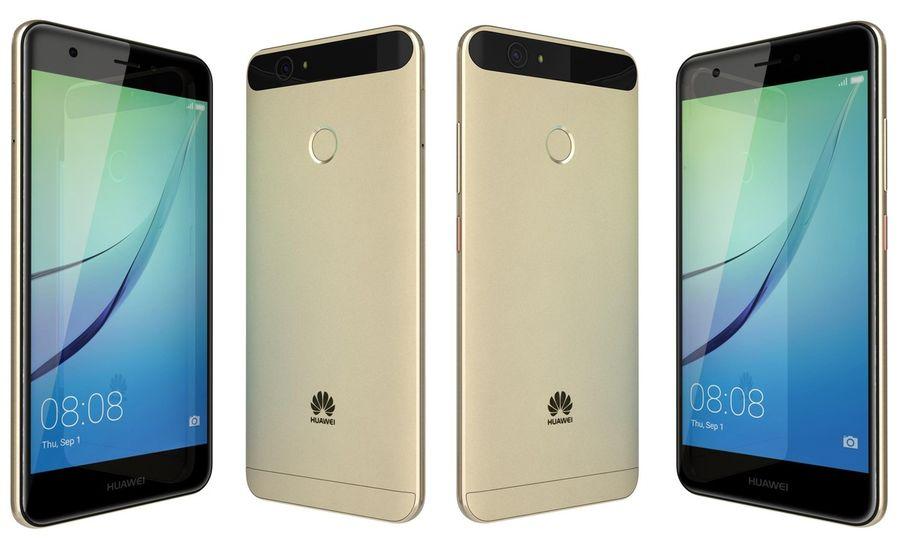Huawei Nova Prestige Gold royalty-free 3d model - Preview no. 7