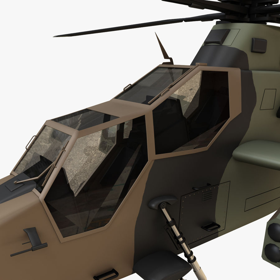 Eurocopter Tiger Attack Helicopter royalty-free 3d model - Preview no. 9