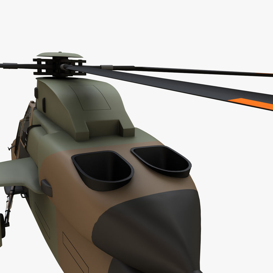 Eurocopter Tiger Attack Helicopter royalty-free 3d model - Preview no. 11