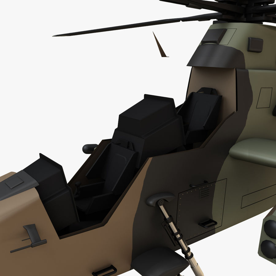 Eurocopter Tiger Attack Helicopter royalty-free 3d model - Preview no. 10