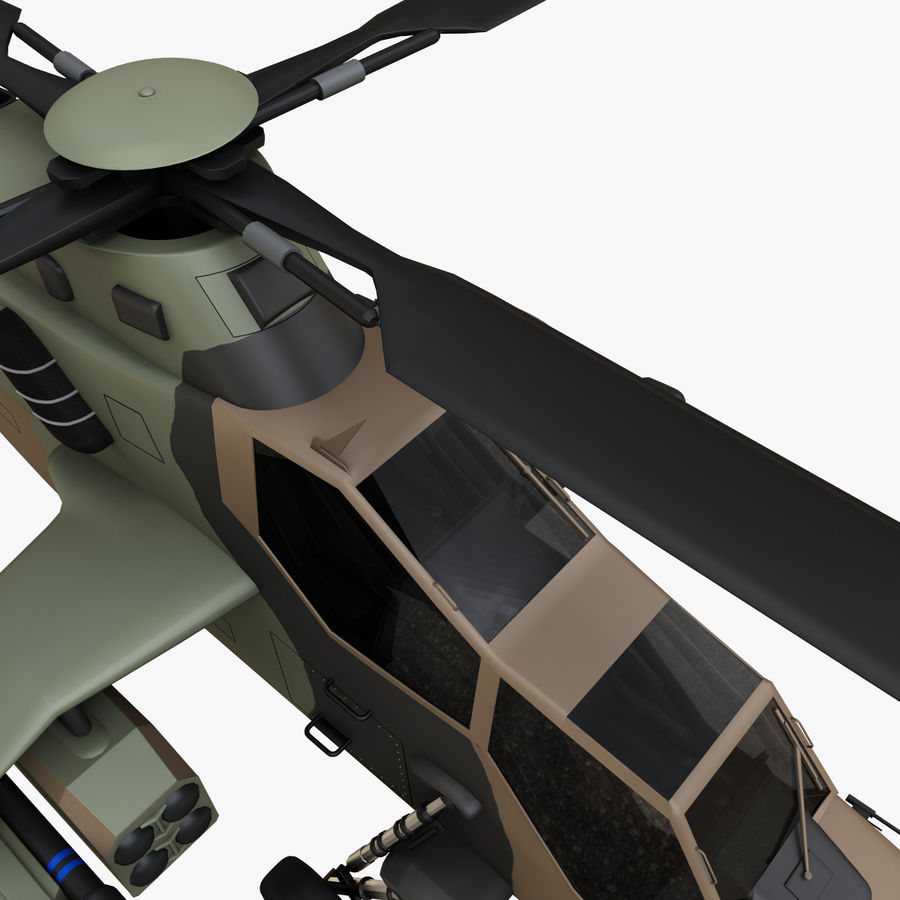 Eurocopter Tiger Attack Helicopter royalty-free 3d model - Preview no. 14