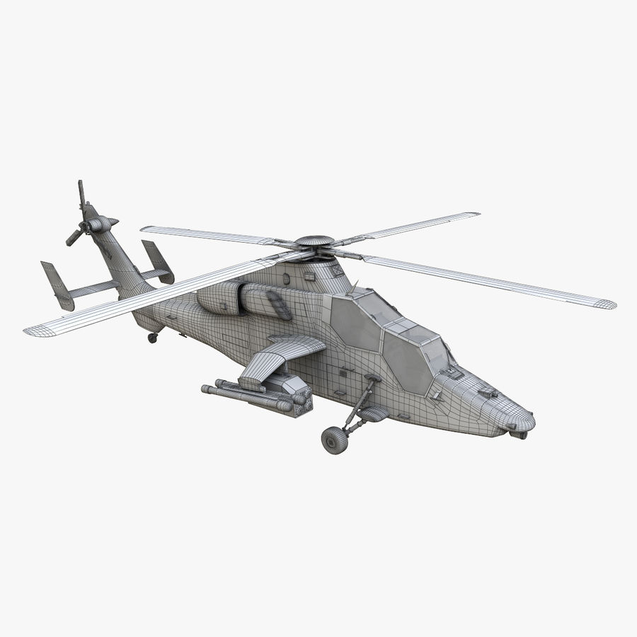 Eurocopter Tiger Attack Helicopter royalty-free 3d model - Preview no. 19