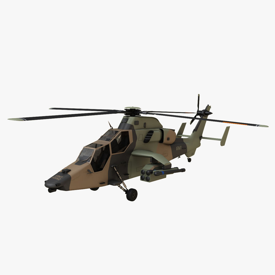 Eurocopter Tiger Attack Helicopter royalty-free 3d model - Preview no. 1